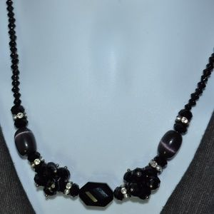 Jewelry - Vintage Faceted Gemstone Rhinestone Necklace